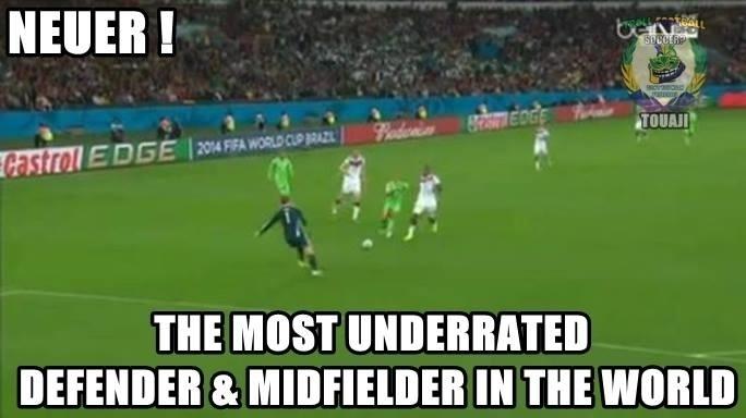Neuer, o volante mais subvalorizado do futebol