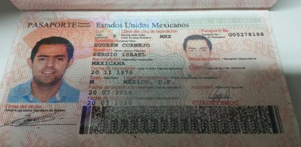 Passaporte de um dos mexicanos que espancaram brasileiros em Fortaleza