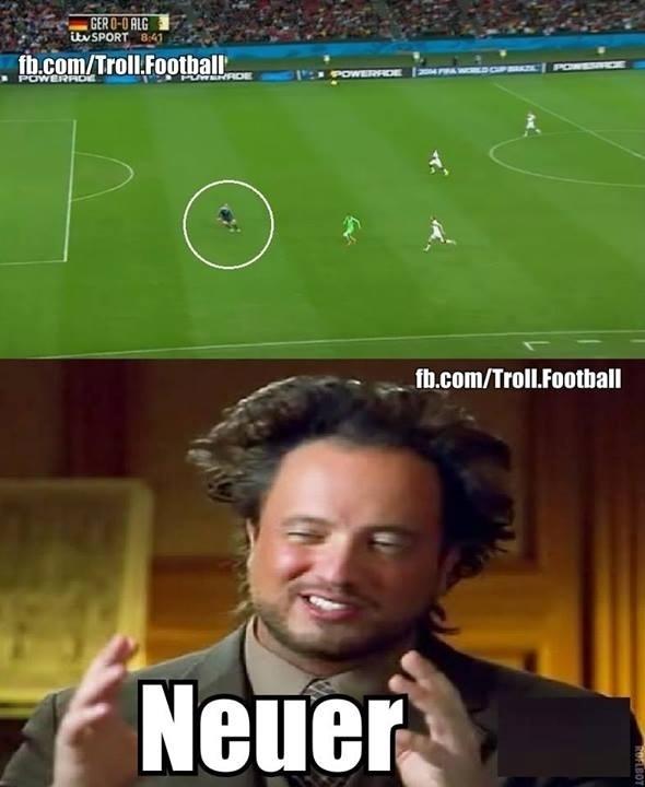 Posicionamento do Manuel Neuer chama atenção até do ufólogo do History Channel