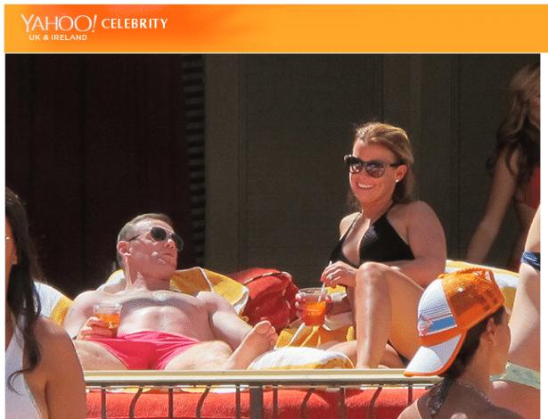 Rooney aproveitou a queda precoce da Inglaterra e foi curtir Las Vegas-EUA com a mulher