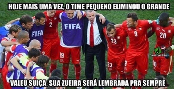 A Suíça até teve torcida brasileira a seu favor, mas não conseguiu vencer a Argentina