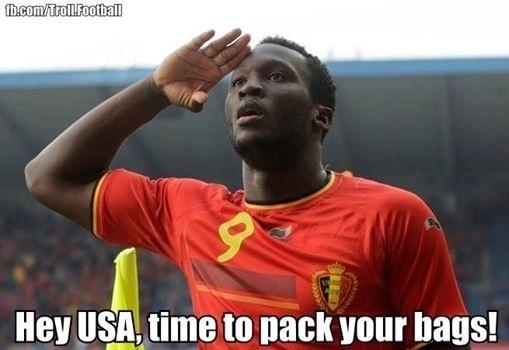 Belgas também provocaram os Estados Unidos. E com gols