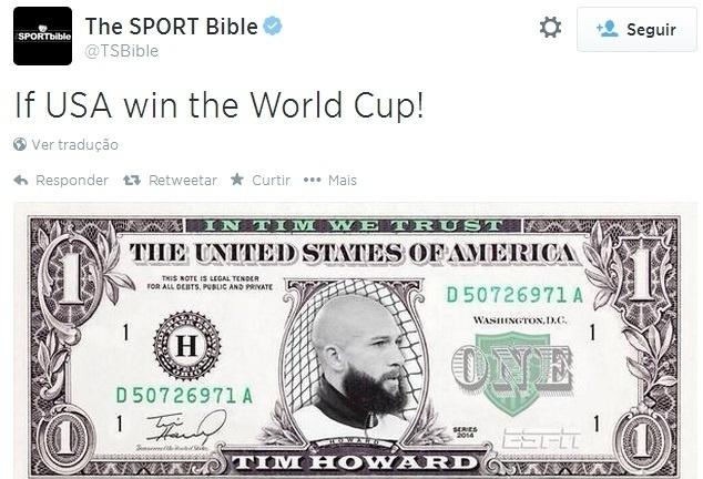 Caso ganhem a Copa, EUA pode emitir nova nota de um dólar