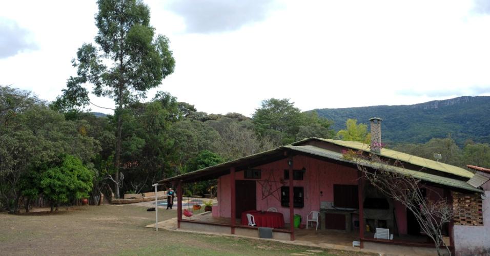 Visão da pousada Cidade das Estrelas, que recebe eventos de bruxaria ocasionais em São Tomé das Letras