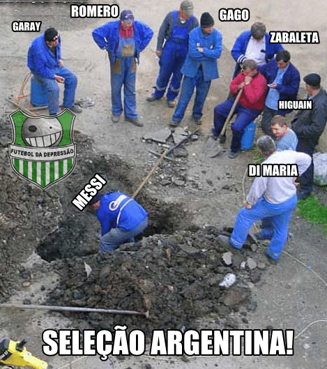 De acordo com internautas, só Messi 'trabalha' na seleção argentina