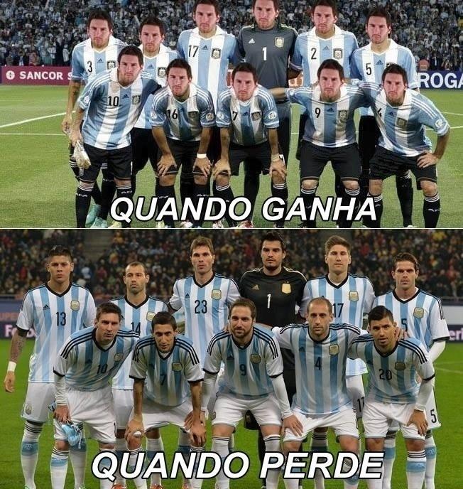 Dependência da Argentina por Messi é motivo para piadas na internet