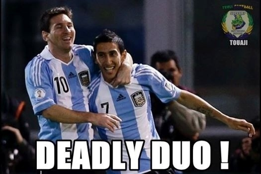 """""""Dupla mortal"""". Di Maria e Messi recebem elogios nas redes sociais"""
