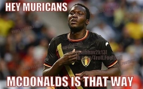 """""""Ei americanos, o McDonalds é para lá"""". Belgas zoam jogadores americanos após derrota"""