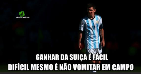 """""""Ganhar da Suíça é fácil. Difícil é não vomitar em campo"""". Esse é o verdadeiro desafio para Messi"""