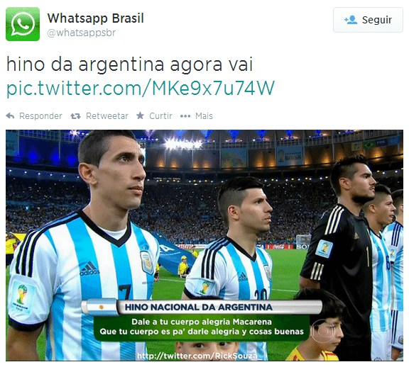 Hino da Argentina virou piada na internet