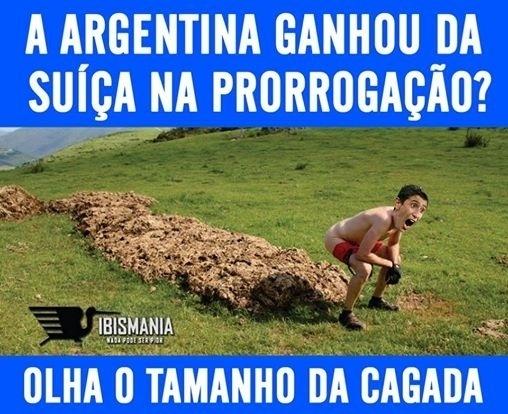 Internautas dizem que gol da Argentina foi sorte
