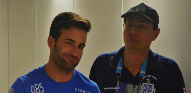 Mario Ferri acompanhou a partida em uma cadeira de rodas
