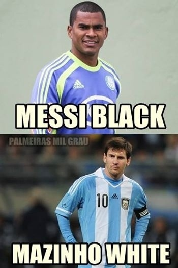 Messi vira 'Mazinho White' em página palmeirense