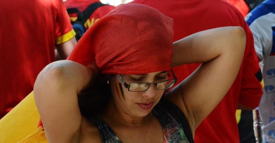 01.jul.2014 - Movimentação de torcedores no centro histórico de Salvador antes de Bélgica x EUA