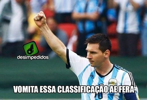 Náuseas de Messi já se tornaram memes