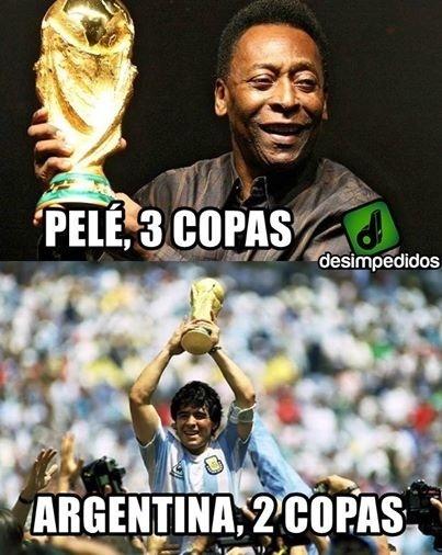 Pelé tem mais Copas que a Argentina