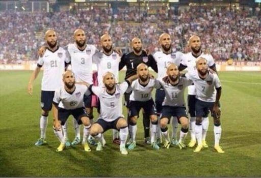 Seleção americana ganhou uma nova escalação após partida contra a Bélgica