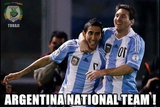 """""""Seleção Argentina"""". Para alguns internautas, eles levam o time nas costas"""