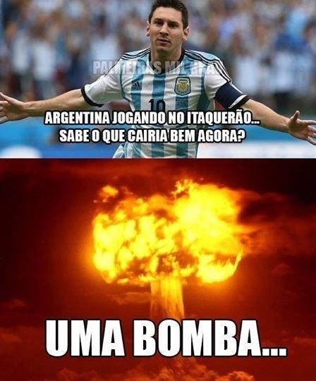Torcida argentina na casa do rival foi motivo de piadas palmeirenses