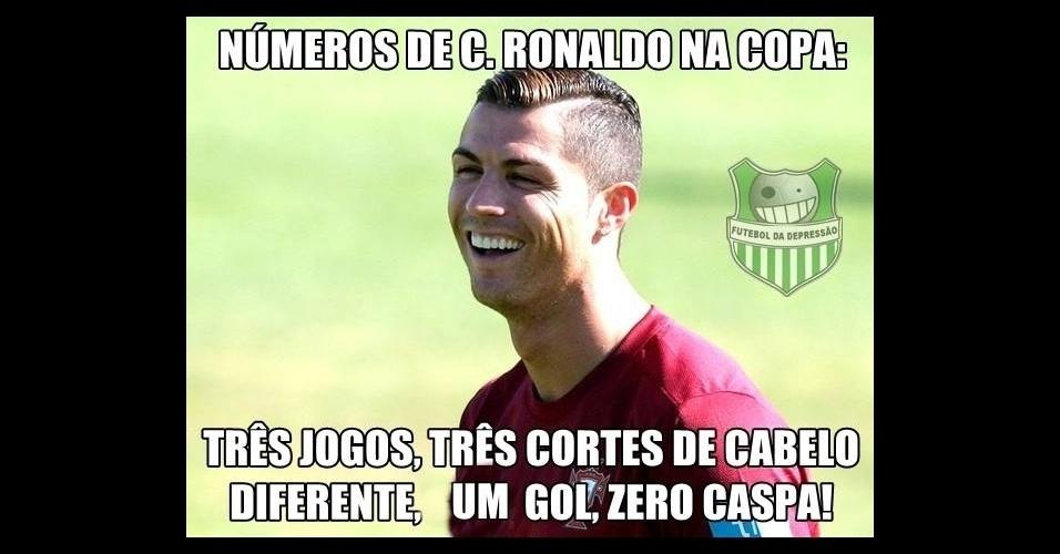 Ao menos Ronaldo tem mais gols do que caspas