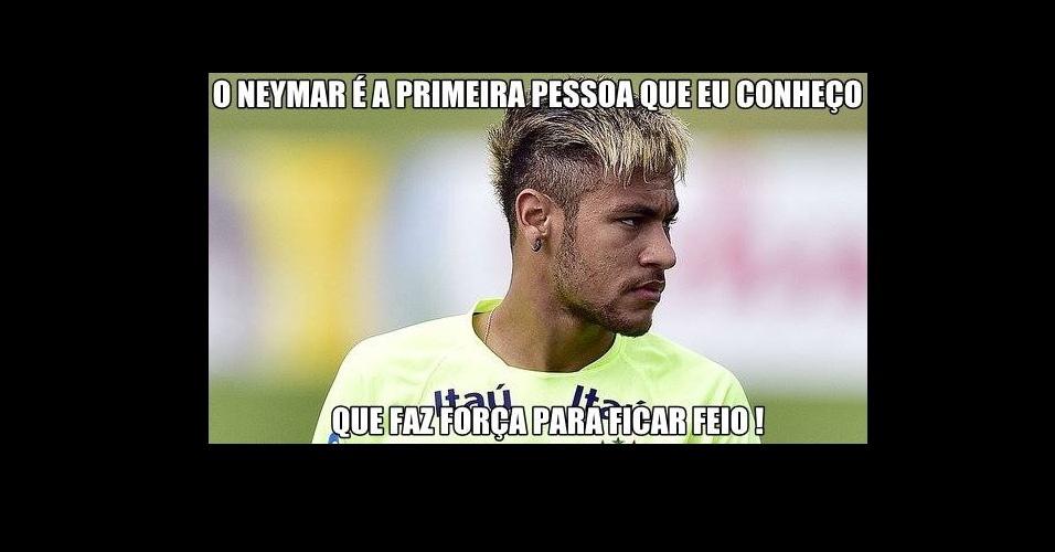 Após mudar o cabelo, Neymar teve que sofrer com provocações dos internautas