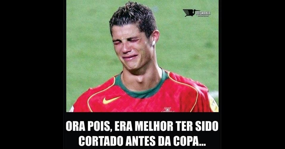 Atuações fracas da seleção portuguesa fizeram até o craque se arrepender de ter vindo ao Brasil