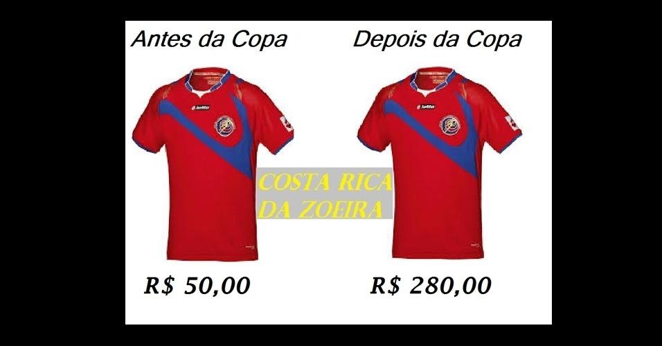 Camisa da Costa Rica deve ter o preço inflacionado após a Copa