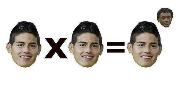 Copa é matemática: James x James = James ao 'Cuadrado'