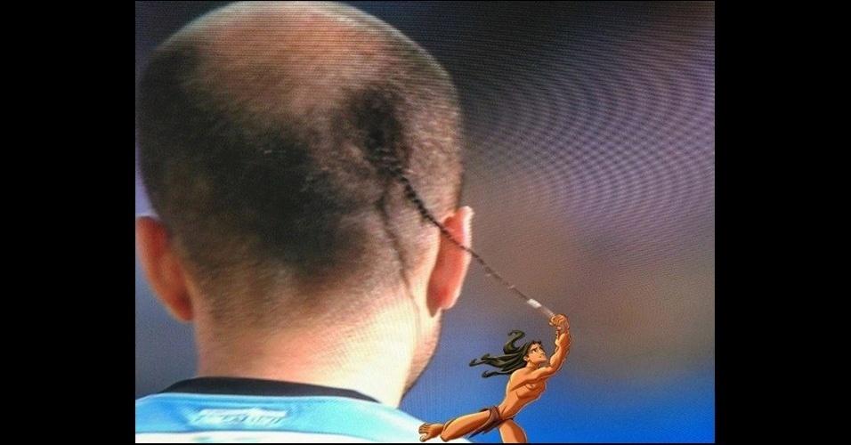 Corte de cabelo de Rodrigo Palacio foi ironizado e serviu de cipó para o Tarzan