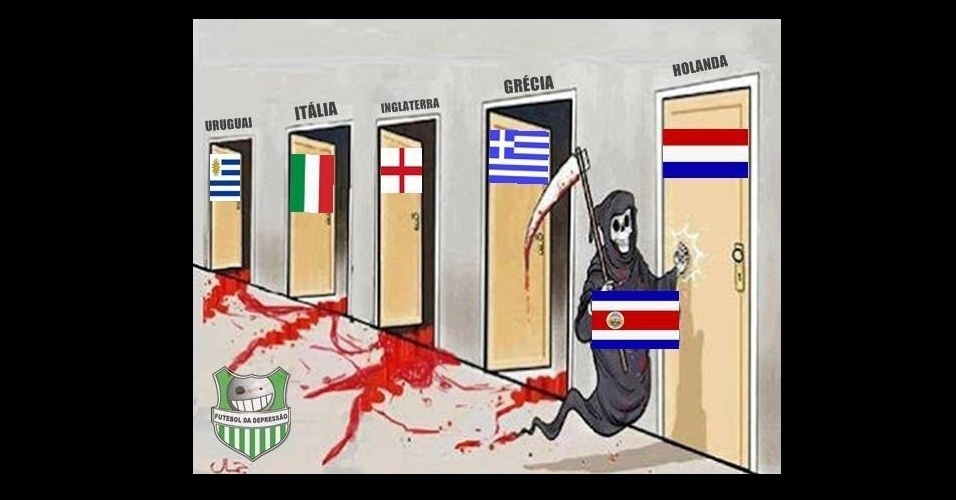 Costa Rica eliminou seleções que eram consideradas mais fortes. A Holanda seria a próxima vítima?