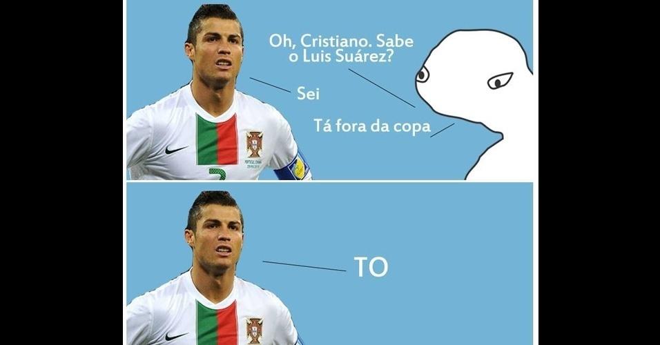Cristiano Ronaldo sabe bem que está fora da Copa