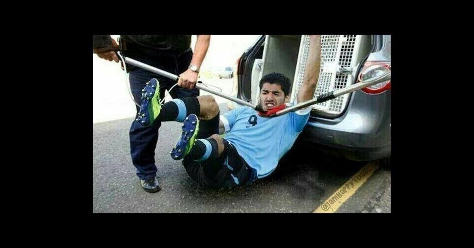 Dessa vez Suárez não conseguiu passar despercebido pelas autoridades
