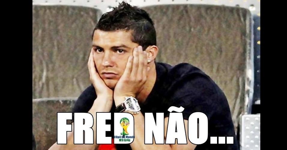 Fred e Cristiano Ronaldo tinham até às quartas de final o mesmo número de gols na Copa