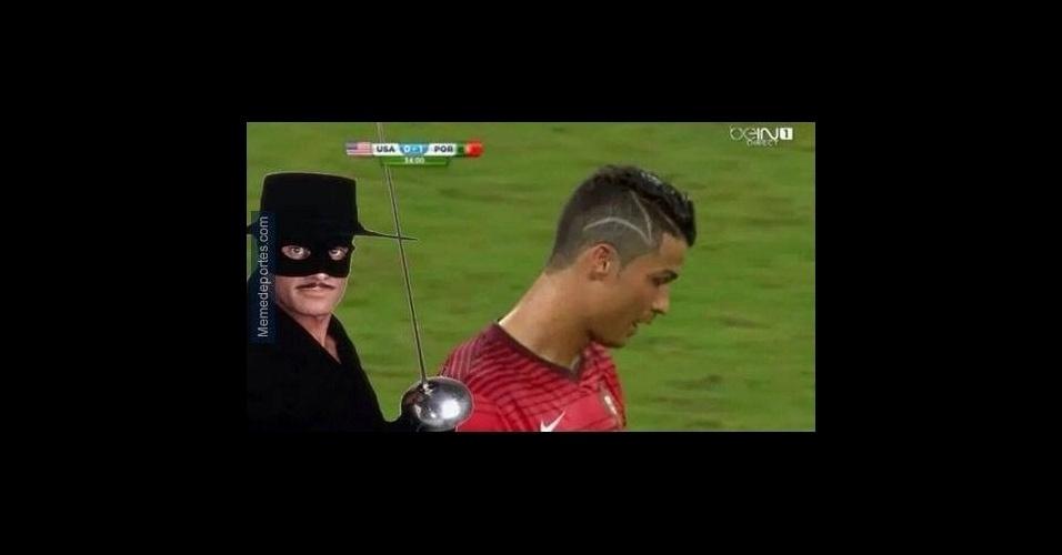 Internautas descobrem o verdadeiro motivo do corte de cabelo de Cristiano Ronaldo na segunda partida da Copa