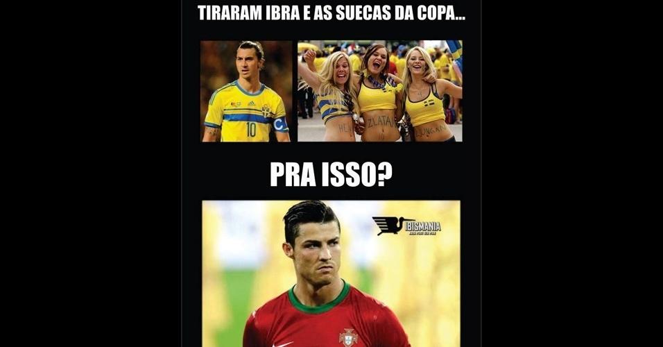 Internautas não esqueceram que a seleção da Suécia não veio para a Copa por causa de Portugal