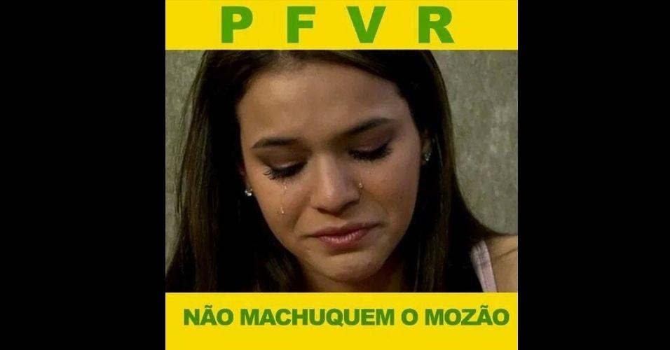 Namorada de Neymar, Marquezine está preocupada com o 'mozão'
