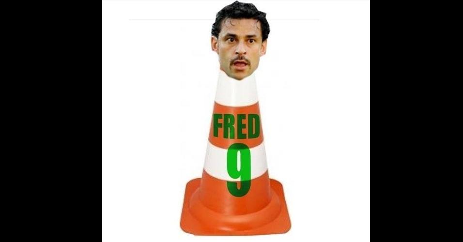 Outro cone foi criado. Este com a cabeça de Fred