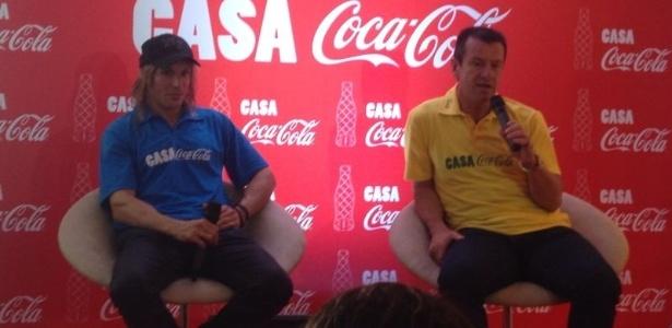 Dunga e Cannigia conversam sobre Copa do Mundo durante evento no Rio de Janeiro