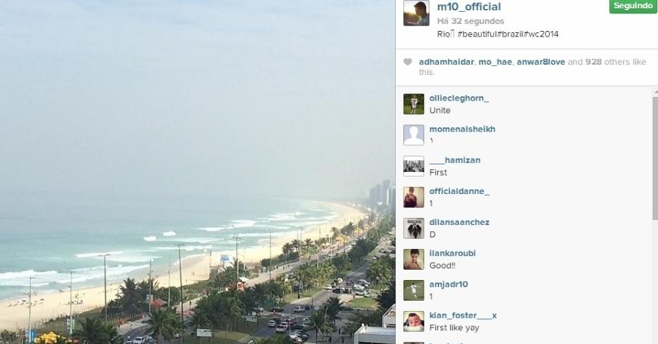 3. jul. 2014 - Özil também foi um dos alemães que se encantou com o Rio de Janeiro e clicou a praia