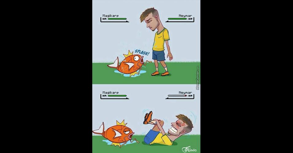 Até um Pokémon foi usado para zoar Neymar