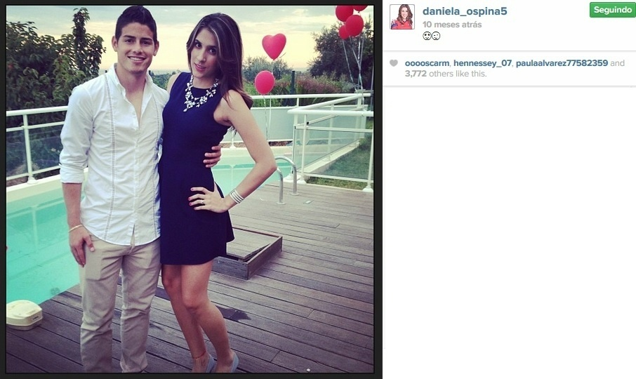 Daniela Ospina, mulher de James Rodríguez, destaque da Colômbia na Copa