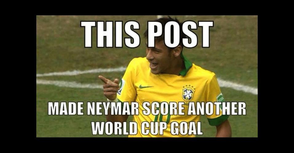 """""""Essa postagem fez o Neymar marcar outro gol na Copa"""". Gols de Neymar já são tão frequentes na Copa que internautas brincam que atacante pode marcar a qualquer momento"""