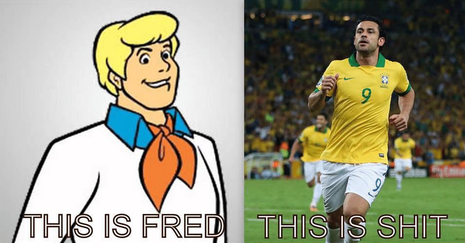 """""""Esse é o Fred. Esse é um lixo"""". Fred e Neymar são os alvos preferidos dos memes internacionais"""