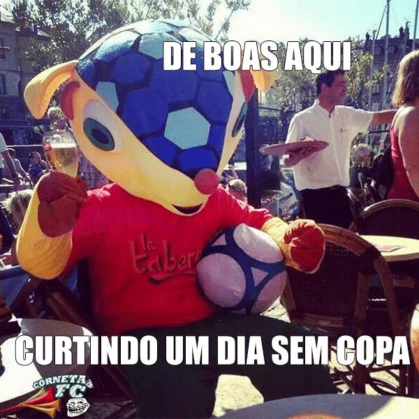 Fuleco é flagrado enchendo a cara durante dia sem jogos na Copa