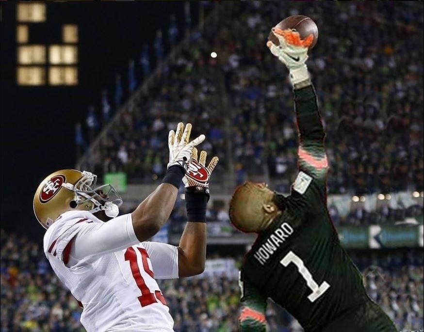 Howard se daria bem até no futebol americano