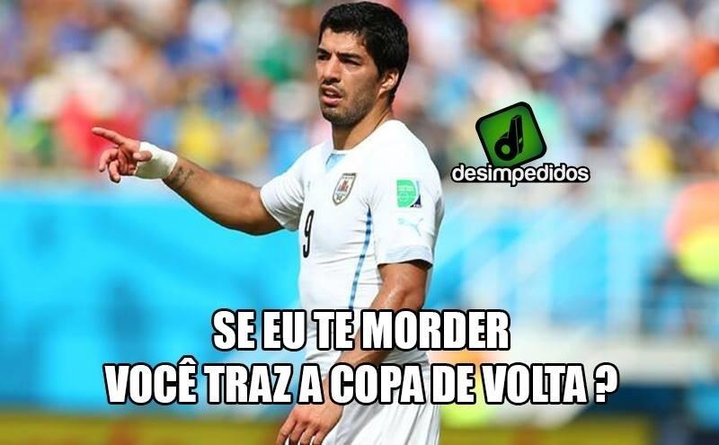O Suárez quer mais Copa. E está disposto a morder para que ela volte