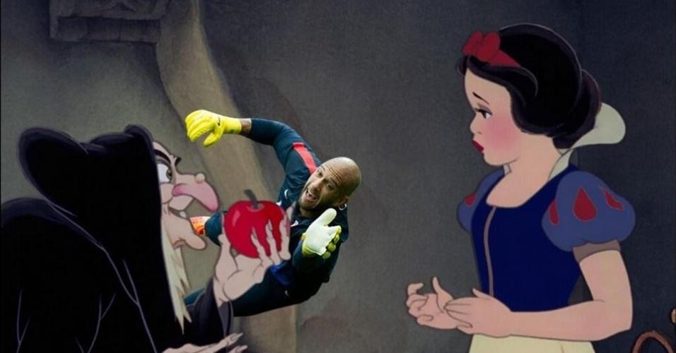 Sai pra lá, maçã envenenada!