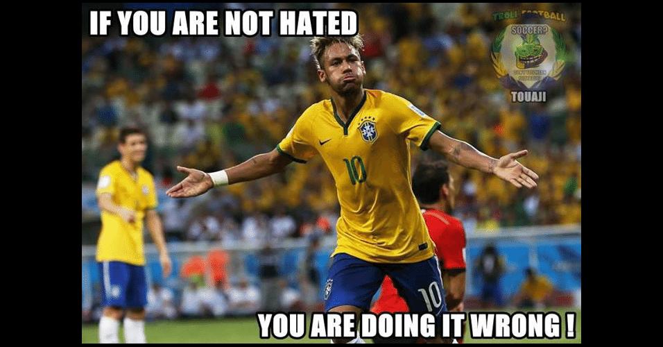 """""""Se você não é odiado, você está fazendo isso errado"""". Torcedores estrangeiros brincam com o fato de que a habilidade de Neymar faz algumas pessoas odiarem ele"""
