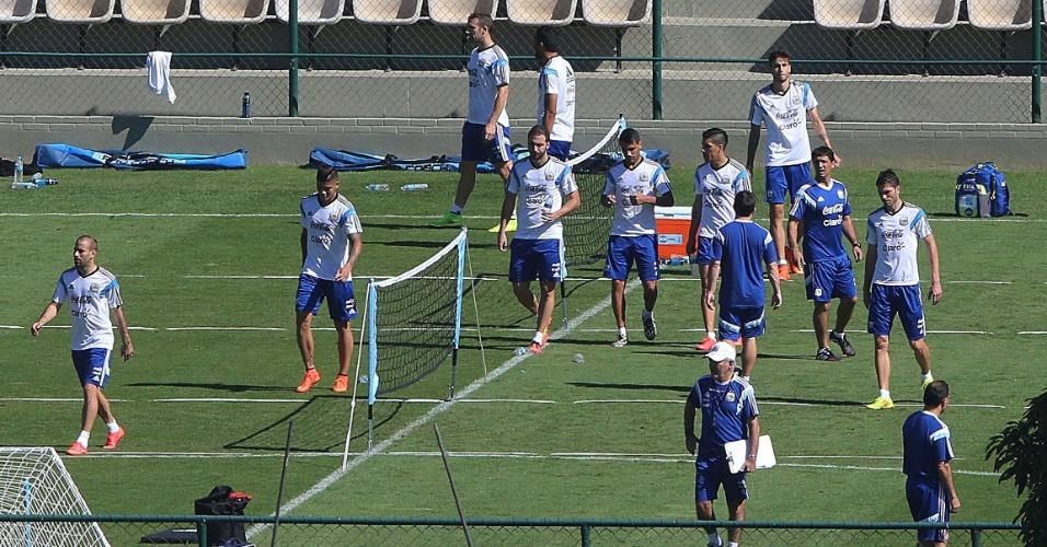 03.jul.2014 - Seleção argentina treina em Belo Horizonte, em preparação para partida de quartas de final contra a Bélgica, no sábado