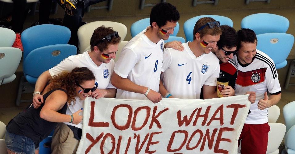 Torcedores ingleses foram ao Maracanã apoiar a Alemanha em jogo contra a França